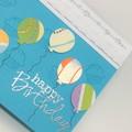 Birthday Card - Balloons on aqua