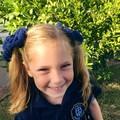 School Hair Bow / Elastic / Ponytail
