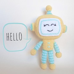 Robot soft toy