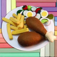 Felt Food Chicken n Chips