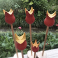 Toys of Wood - Valentine's Red & yellow wooden Tulip