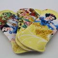 "Snow White set of 3 Liners/Light 6"" Reusable Cloth Menstrual Pad"