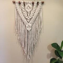 Natural macrame wall hanging