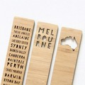 Melbourne Bookmarks, 3 Designs, Australian Made Gift, Australia Souvenir, Map