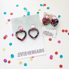 Kaleidoscope Heart Earrings