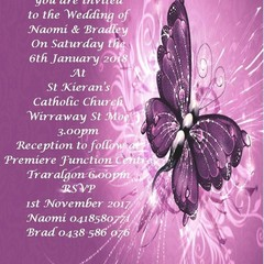 PURPLE BUTTERFLY INVITATIONS