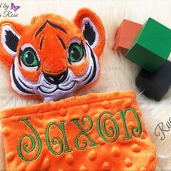 Tiger 'Ruggybud' - personalised, comforter, keepsake, lovey.