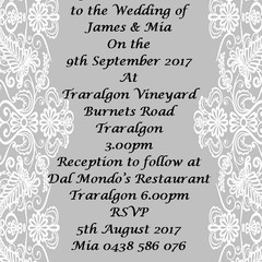 GREY AND WHITE LACE WEDDING INVITATIONS