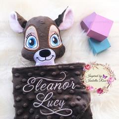 Deer/Buck 'Ruggybud' - personalised, comforter, keepsake, lovey.