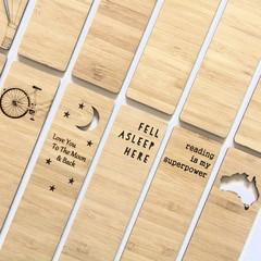 Bamboo Bookmark 18 to Choose From | Teacher gift, Souvenir, Kris Kringle