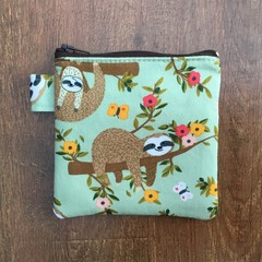 Coin Purse - Sloth print
