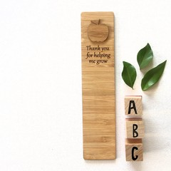 Teacher Bookmark Bamboo | 5 to Choose From | Thank You Gift