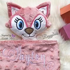 Fox 'Ruggybud' - personalised, comforter, keepsake, lovey.