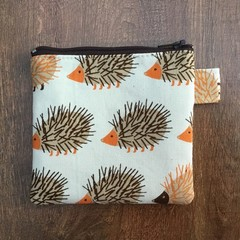 Coin Purse - Hedgehog print