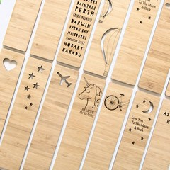 Bamboo Bookmark, 18 to Choose From, Mother's Day Gift, For Her, Book Lover Gift