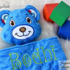 Teddy Bear 'Ruggybud' - personalised, comforter, keepsake, lovey.