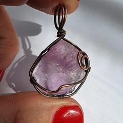 Purple Fluorite Pendant