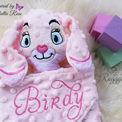 Bunny 'Ruggybud' - personalised, comforter, keepsake, lovey.