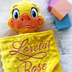 Duck 'Ruggybud' - personalised, comforter, keepsake, lovey.