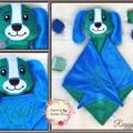 Puppy 'Ruggybud' - personalised, comforter, keepsake, lovey.