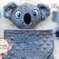 Koala 'Ruggybud' - personalised, comforter, keepsake, lovey.