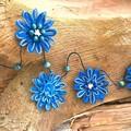 Natural Fibre Beaded Flower Hanging Garland Ocean Beach Coastal Wall Decoration