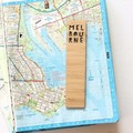 Melbourne Bookmarks, 3 Designs, Australian Made Gift, Australia Souvenir, Map