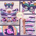 Appliqued 'Butterfly Wings', Embroidered Mask & Dancing Ribbons
