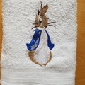 """Peter Rabbit "" Embroidered Towel"