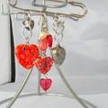 Hearts, Red & white, love brooch, love hearts, kilt pin brooch romance valentine