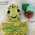 Turtle 'Ruggybud' - personalised, comforter, keepsake, lovey.