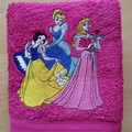 """""""3 Princesses """" Embroidered Towel"""
