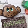 Monkey 'Ruggybud' - personalised, comforter, keepsake, lovey.
