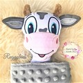 Cow 'Ruggybud' - personalised, comforter, keepsake, lovey.