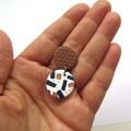 Metallic Confetti Disc Drop earrings