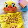 Duck 'Ruggybud' - personalised, comforter, keepsake, lovey.
