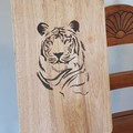Wood burnt Tiger Cutting Board