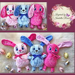 Personalised Bunny Plushie - Easter Gift