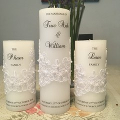 Personalised Wedding candle-3 set (Truc)