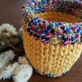 Crochet basket, fairtrade - planter size.