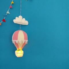 Nightlight Air Balloon Small Pale Pink / Cream