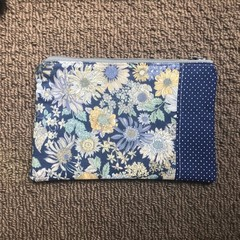 Beautiful blue flowers purse
