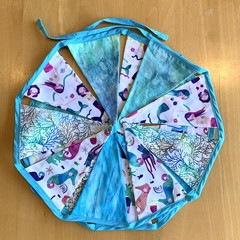 """Under the Sea there be Mermaids"" bunting"