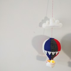 Nightlight Air Balloon Small Navy/Red/White/Charcoal