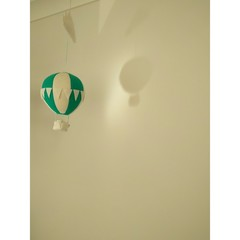 Nightlight Air Balloon Small Teal/White (With Bunting)