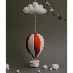 Nightlight Air Balloon Small Red/Cream