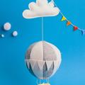 Nightlight Air Balloon Large Grey/White