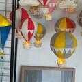 Nightlight Air Balloon Large Yellow/Grey (With Bunting)