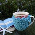 CROCHET PDF PATTERN in USA terms Mug Cozy Coaster Combo + bonus pattern