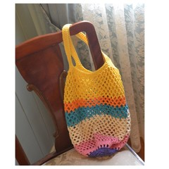 Crochet Mesh Market Bag - Lollipop